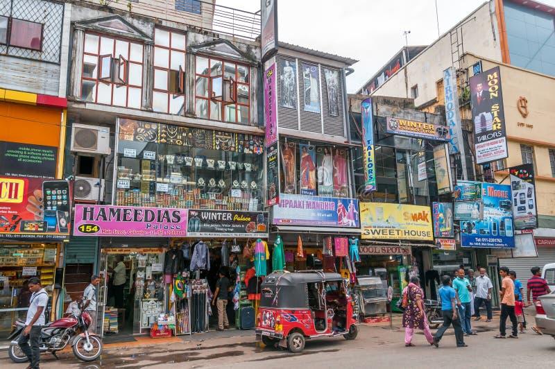 In der Straße von Colombo lizenzfreie stockbilder