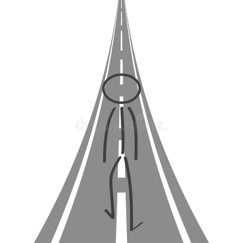 Der Straßenerfolg, der in die Zukunft - Vektor sich bewegt stock abbildung