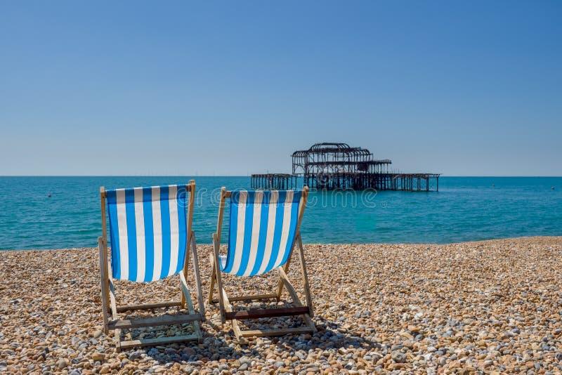 Der Strand in Brighton Großbritannien stockfotos