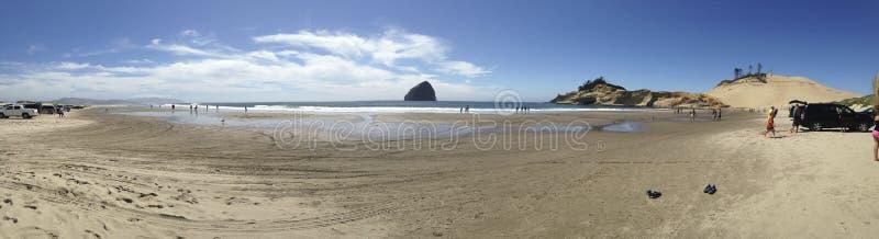 Der Strand in der pazifischen Stadt, Oregon stockfoto