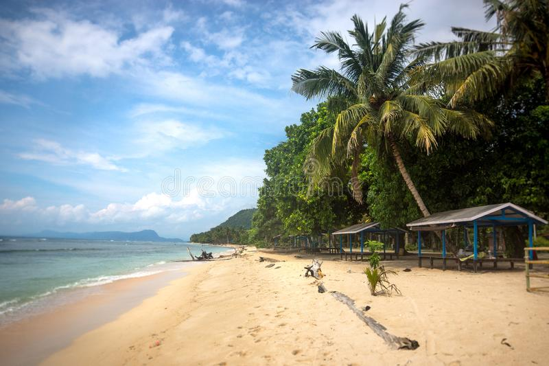Der Strand in Papua-Neu-Guinea stockfotos