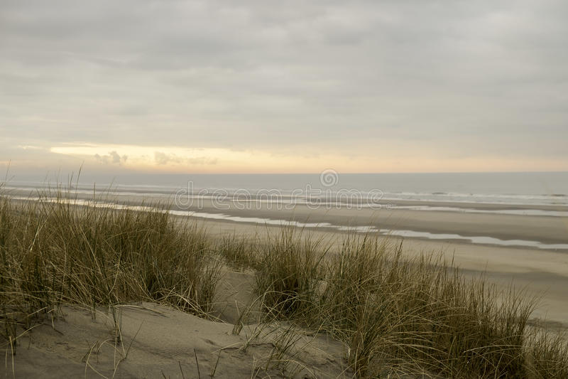 Der Strand von Bredene in Belgien lizenzfreie stockfotos
