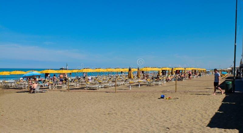Der Strand von Castiglione-della Pescaia im blogheri Bereich herein stockfotografie