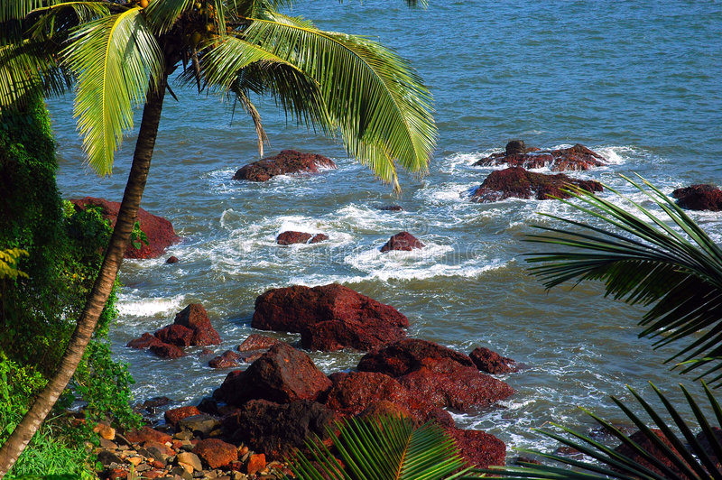 Der Strand von Goa-Indien. stockfotografie