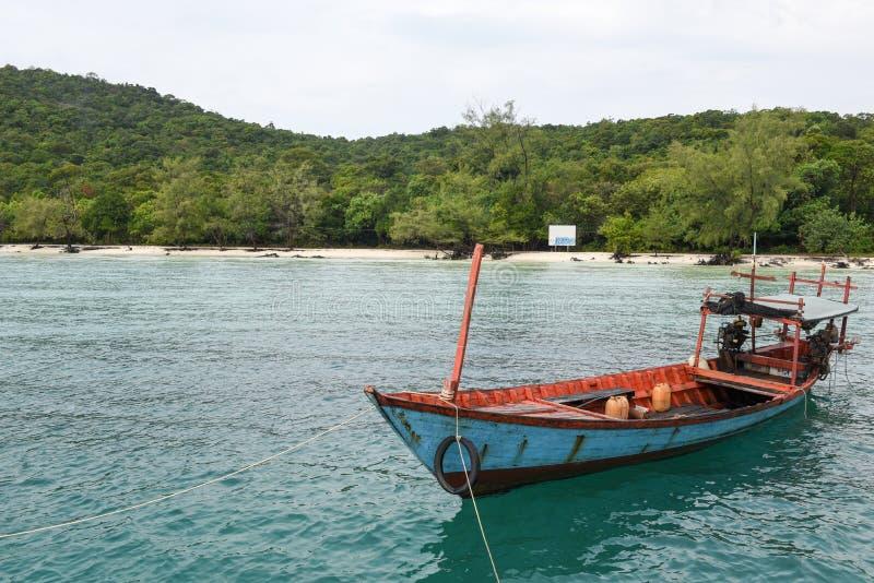 Der Strand von Koh Rong Sanloem-Insel auf Kambodscha lizenzfreie stockfotos