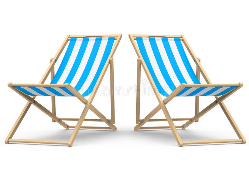 Der Strandstuhl vektor abbildung