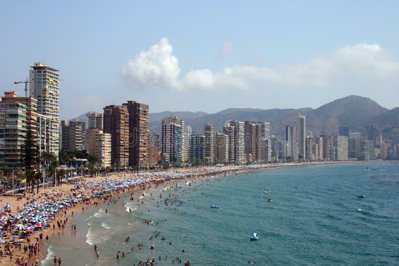 Download Der Strandurlaubsort stockfoto. Bild von sommer, spanien - 40626