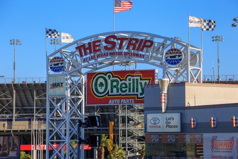 Der Streifen in Las Vegas Motor Speedway stockbilder