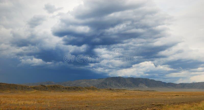 Der Sturm in der Wüste lizenzfreie stockfotos