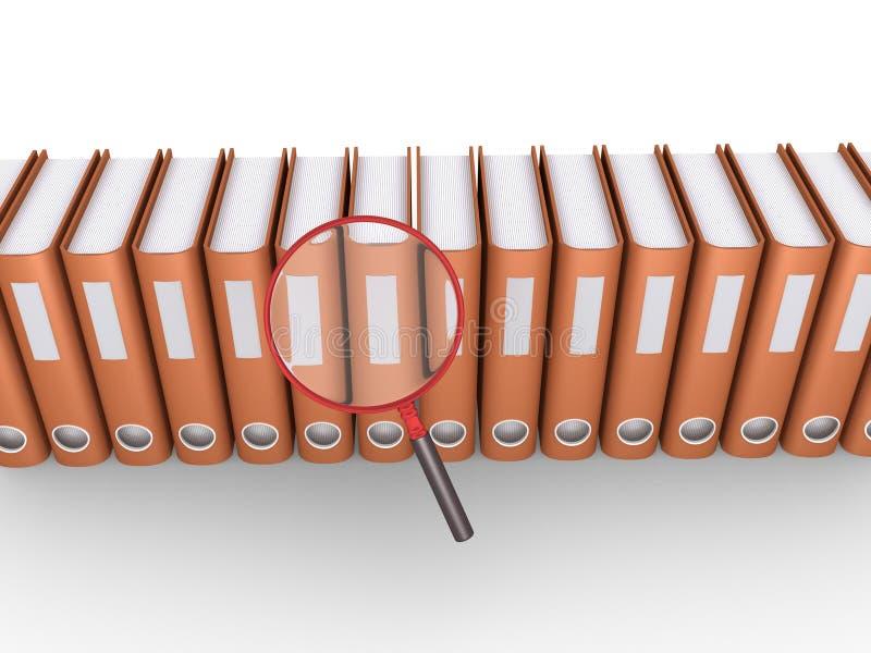 In der Suche nach Dokumenten lizenzfreie abbildung