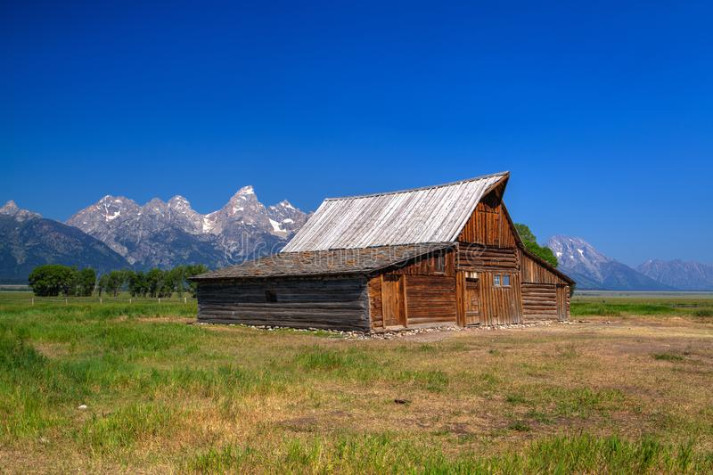 Der T A Moulton-Scheune ist eine historische Scheune in Wyoming, vereinigtes Sta lizenzfreie stockfotos