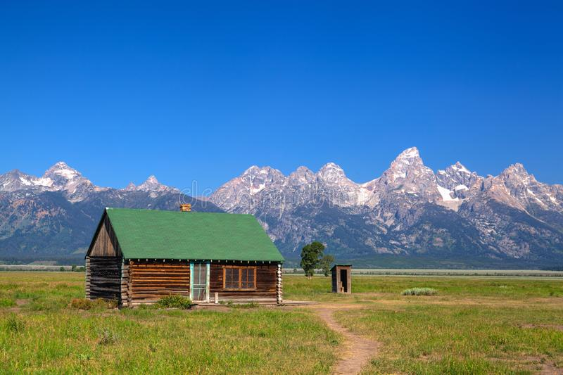 Der T A Moulton-Scheune ist eine historische Scheune in Wyoming, vereinigtes Sta lizenzfreie stockbilder