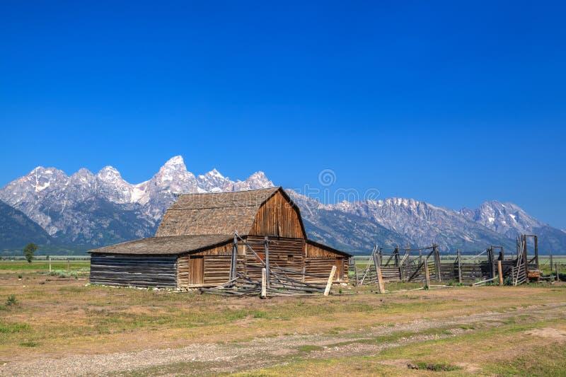 Der T A Moulton-Scheune ist eine historische Scheune in Wyoming, vereinigtes Sta stockfotos