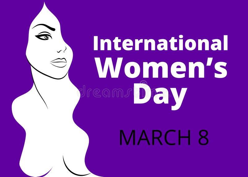 Der Tag der internationalen Frauen lizenzfreie abbildung