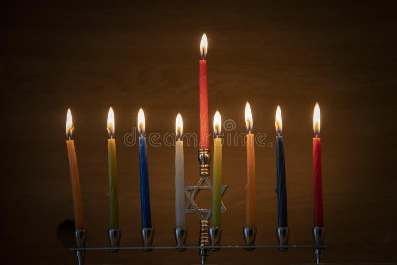 Der Tag des Judentums mit verschiedenem Wachs stockfotografie
