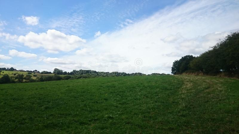 Der Tag des Sommers in der Landschaft lizenzfreies stockfoto