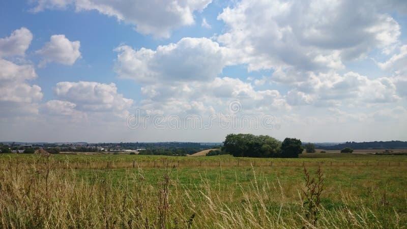 Der Tag des Sommers in der Landschaft stockfoto