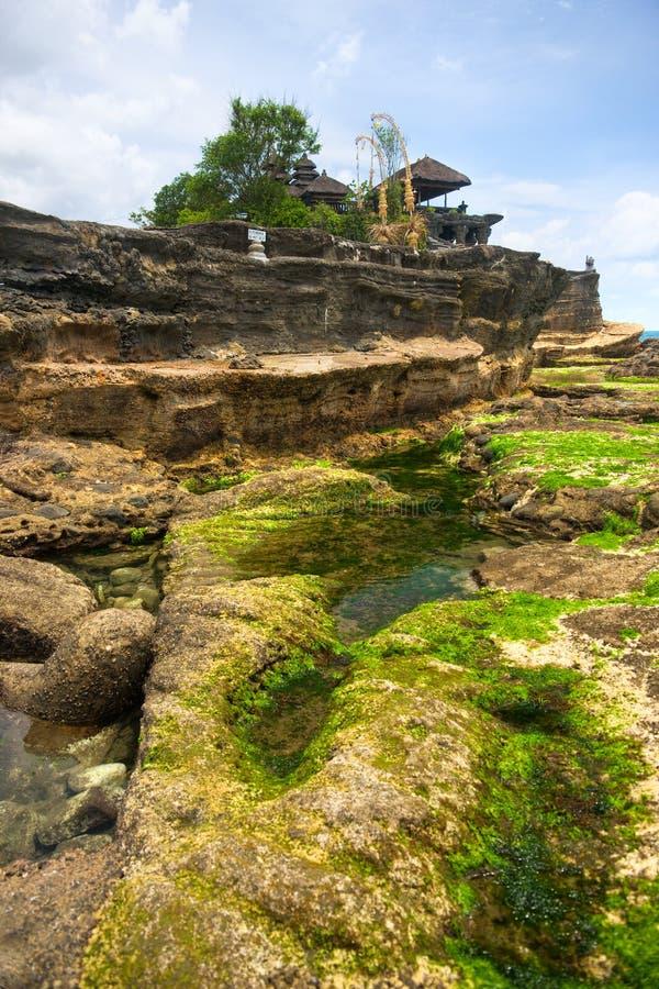 Der Tanah Lot-Tempel, Bali, Indonesien. lizenzfreie stockfotos