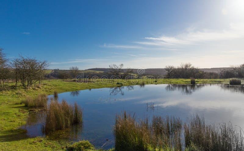Der Tau-Teich, Südabstiege lizenzfreie stockfotos