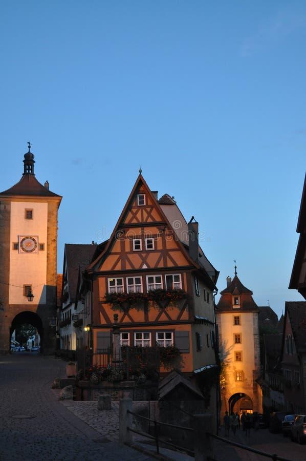 Der Tauber, Allemagne d'ob de Rothenburg photographie stock libre de droits
