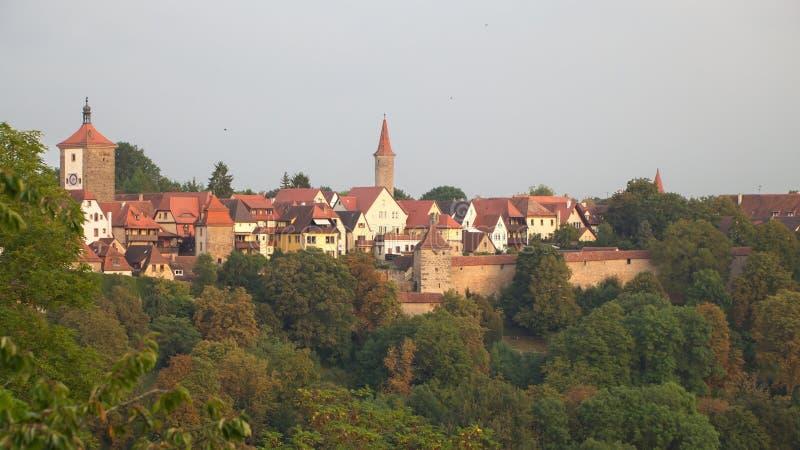 Der Tauber, Baviera, Germania del ob di Rothenburg fotografie stock libere da diritti