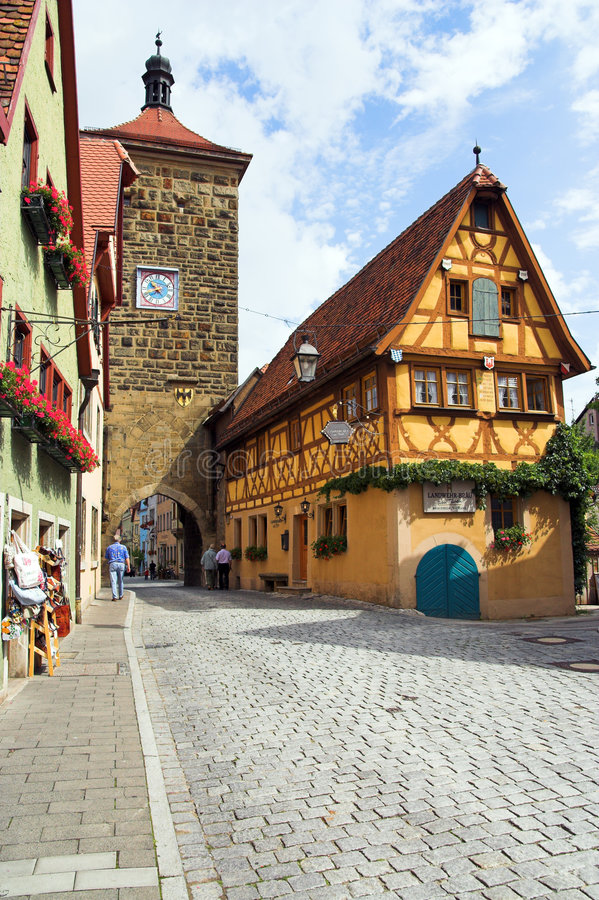 Der Tauber d'ob de Rothenburg photo stock