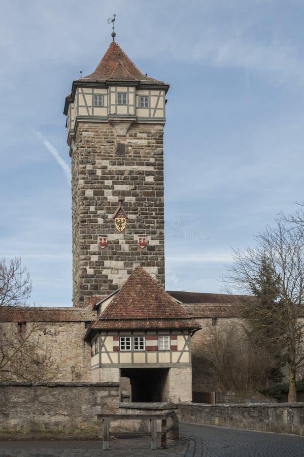Der Tauber d'ob de Rothenburg une ville et historiques et médiévales des villages les plus beaux en Europe, Allemagne, photo stock