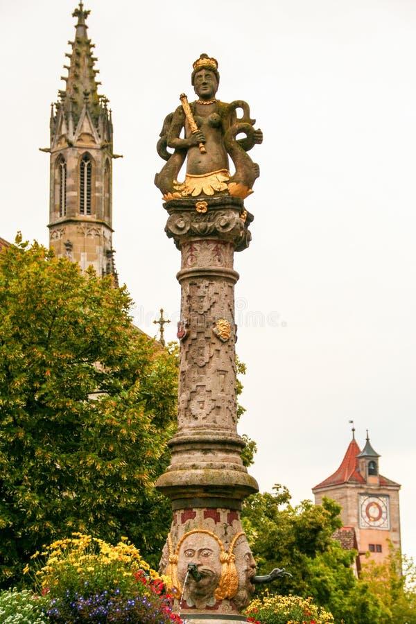 Der Tauber del ob de Rotheburg, foto de archivo
