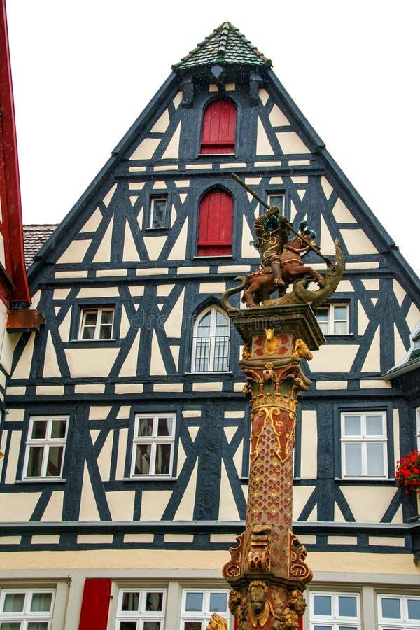 Der Tauber del ob de Rotheburg fotografía de archivo libre de regalías