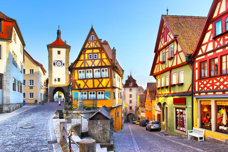 Der Tauber del ob de Rothenburg foto de archivo libre de regalías