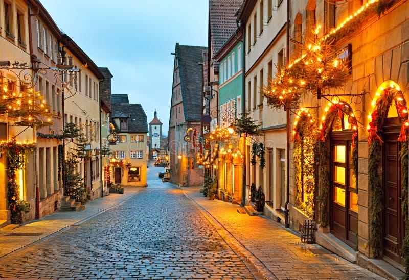 Der Tauber del ob di Rothenburg immagine stock