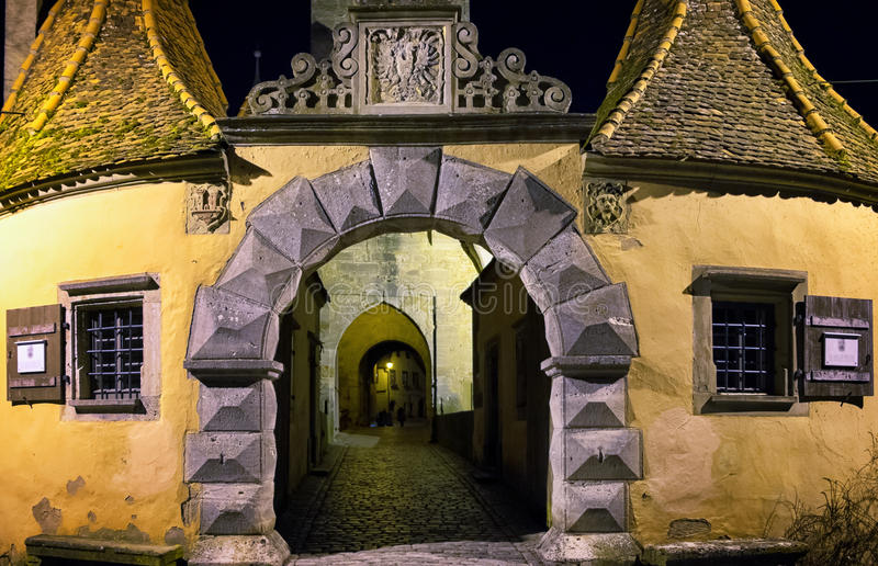 Der Tauber del ob di Rothenburg fotografia stock