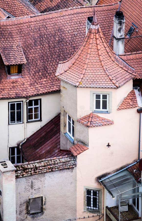 Der Tauber del ob di Rothenburg immagini stock