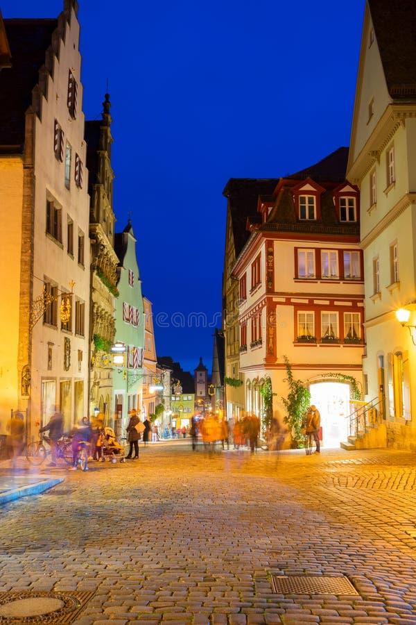 Der Tauber do ob de Rothenburg, Alemanha imagens de stock royalty free