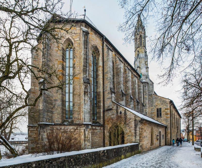 Der Tauber, Germania - chiesa gotica del ob di Rothenburg immagini stock libere da diritti