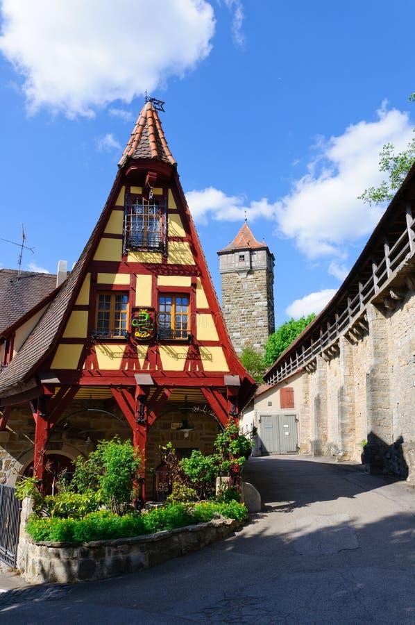 Der Tauber, Germania del ob di Rothenburg immagine stock libera da diritti