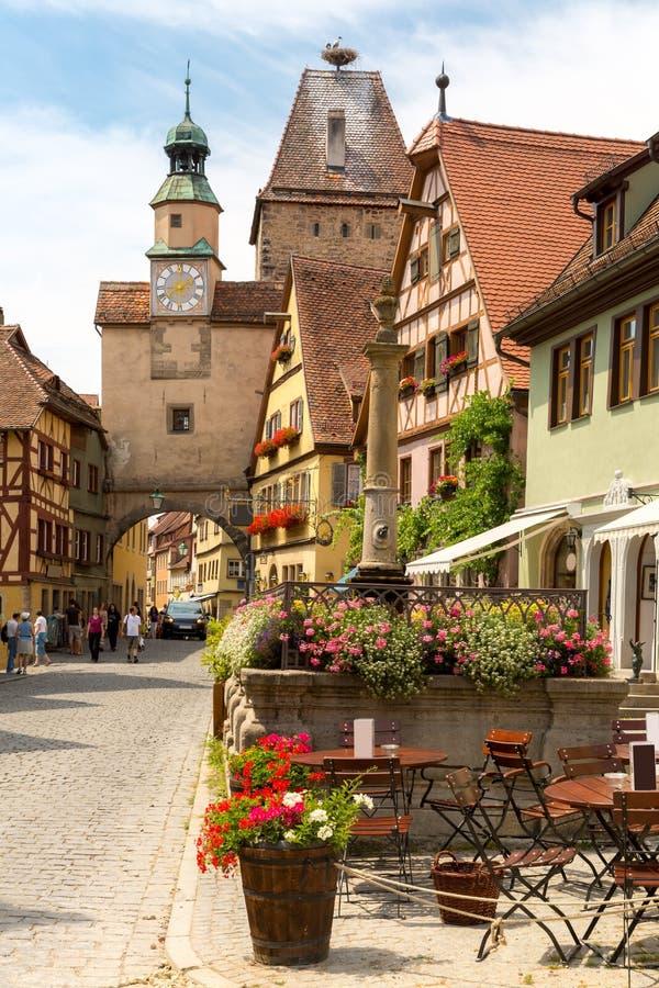 Der Tauber Germania del ob di Rothenburg fotografia stock libera da diritti