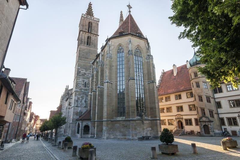 Der Tauber, una città del ob di Rothenburg della città nel distretto di Ansbach fotografia stock libera da diritti