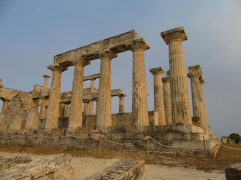 Der Tempel Aphaia auf der Insel Aegina stockbild