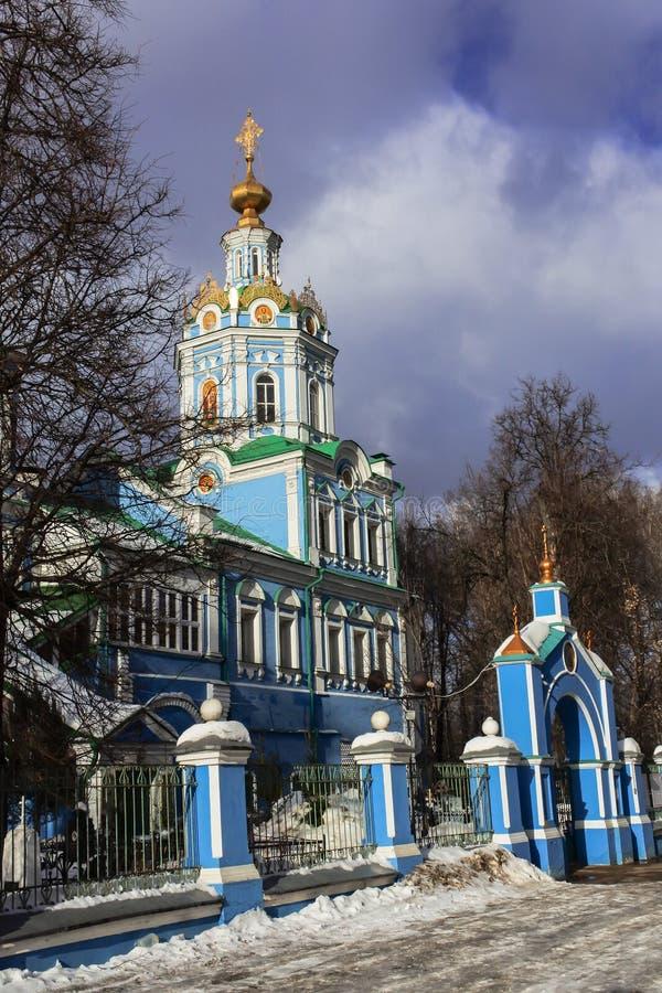 Der Tempel des Erzengels Michael in Nikol-` sko-Arkhangel ` skoye Dmitrov Kremlin lizenzfreie stockfotografie