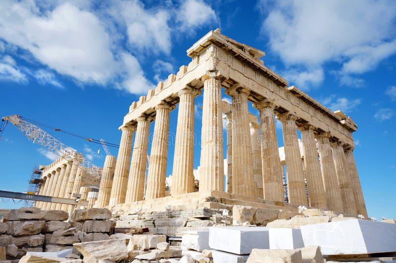 Der Tempel des Parthenons stockfotos