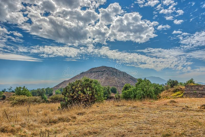 Der Tempel des Sun in der alten Stadt Teotihuacan Mexiko stockfotografie