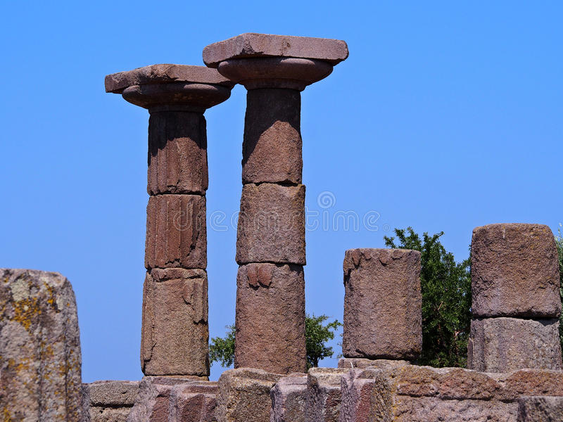 Der Tempel von Athene lizenzfreies stockfoto