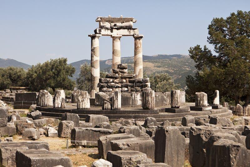 Der Tempel von Athene in Delphi stockbild