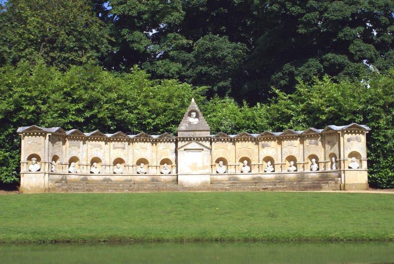 Der Tempel von Briten Worthies, England stockfotos