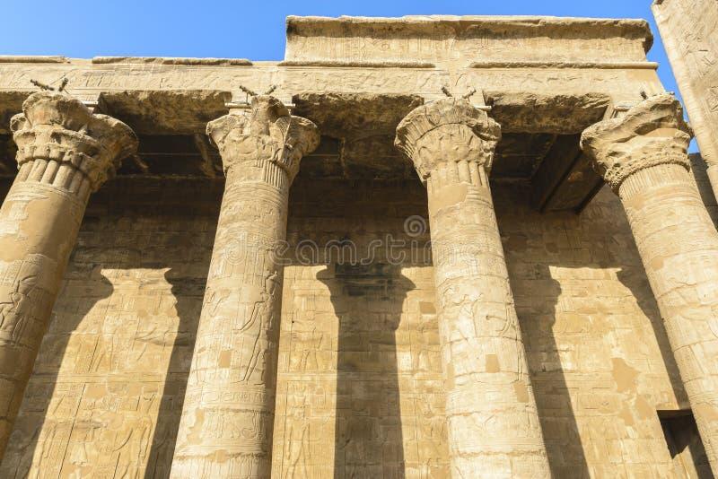 Der Tempel von Edfu, Ägypten lizenzfreies stockbild