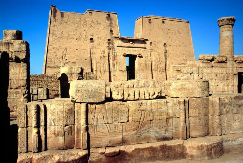Der Tempel von Horus, Edfu, Ägypten. stockfoto