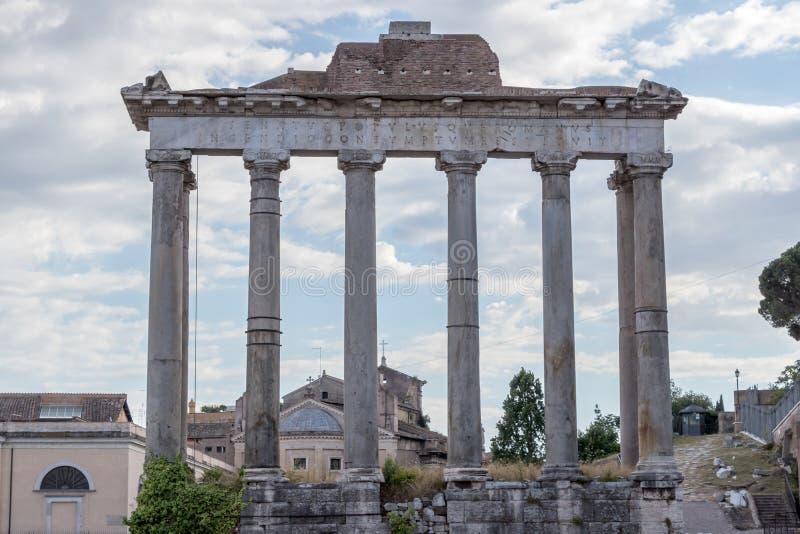 Der Tempel von Saturn stockbild