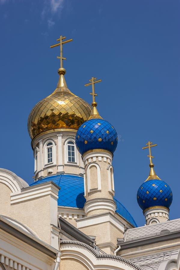 Der Tempel zu Ehren unserer Dame von Kasan, Rostov-On-Don stockfotos