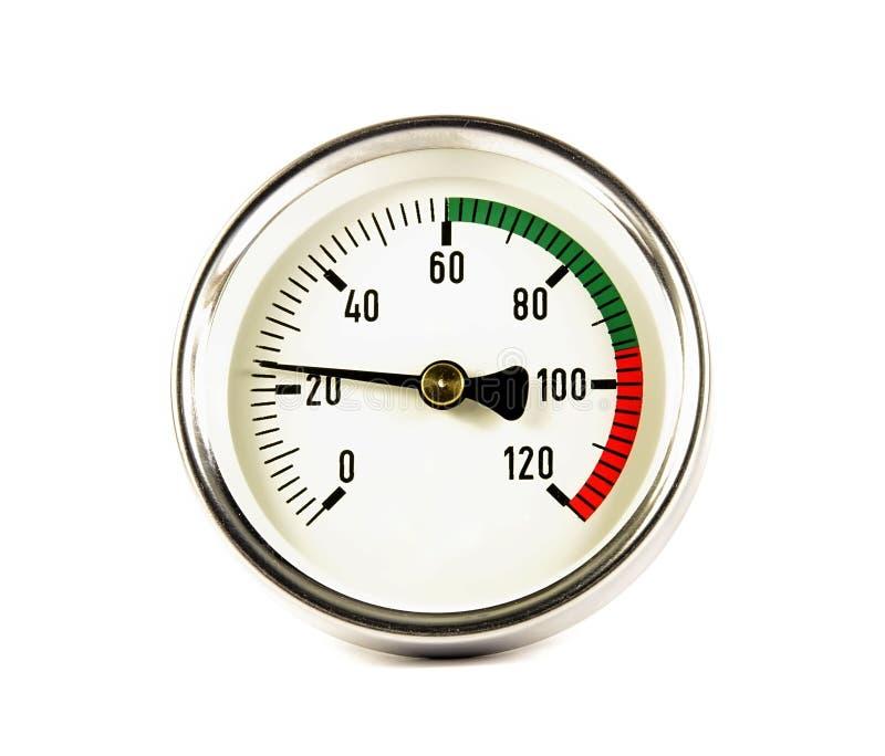 Der Temperaturfühler stockfotografie